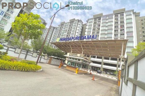 For Sale Condominium at Damai Apartment, Shah Alam Freehold Semi Furnished 3R/2B 340k