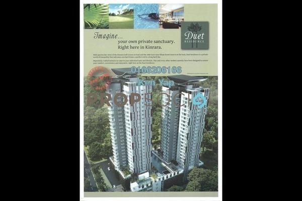 For Sale Condominium at Duet Residence, Bandar Kinrara Freehold Semi Furnished 4R/3B 718k