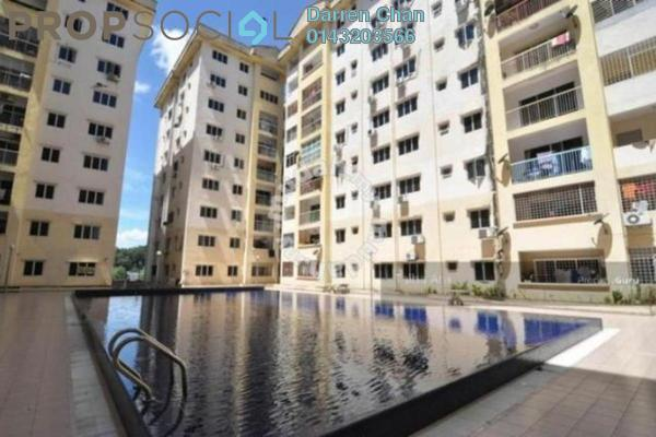 For Sale Apartment at Taman Bukit Kenangan, Kajang Freehold Semi Furnished 3R/2B 230k