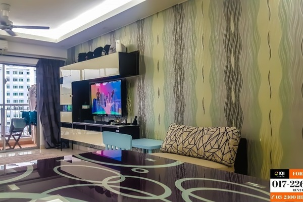 For Sale Condominium at Villa Makmur, Dutamas Freehold Semi Furnished 3R/2B 600k