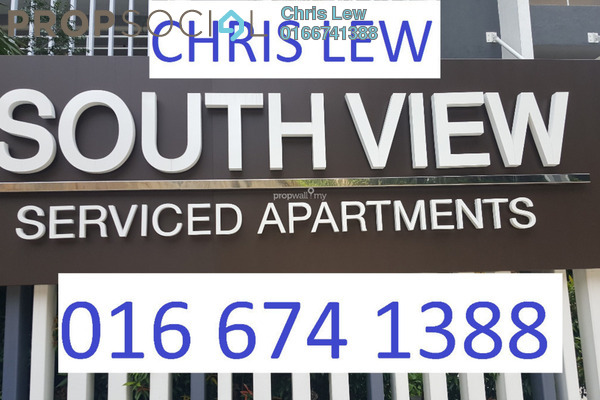 For Sale Condominium at South View, Bangsar South Freehold Unfurnished 2R/2B 650k