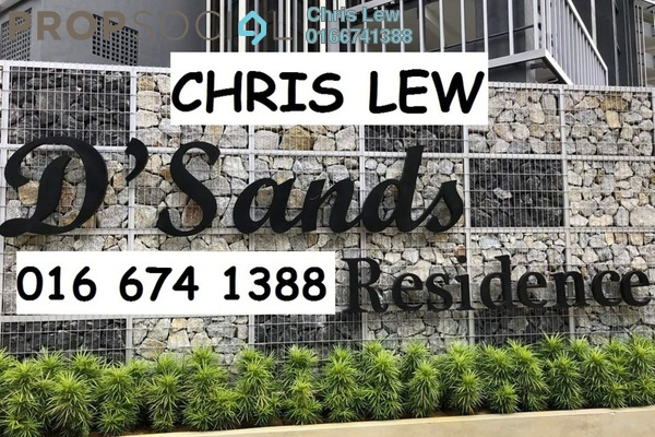 For Rent Condominium at D'Sands Residence, Old Klang Road Freehold Unfurnished 3R/2B 1.8k