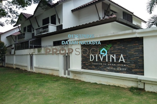 For Sale Semi-Detached at Divina, Shah Alam Freehold Semi Furnished 5R/5B 1.75m
