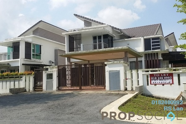 For Rent Semi-Detached at Rembulan, Bandar Enstek Freehold Semi Furnished 4R/4B 2.5k