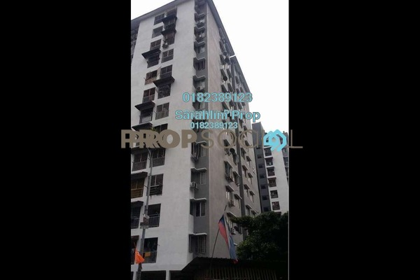For Sale Condominium at Teratai Mewah Apartment, Setapak Freehold Semi Furnished 3R/1B 250k