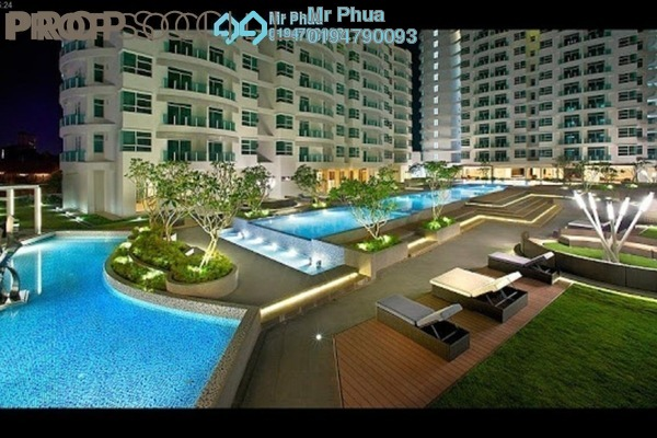 For Sale Condominium at The Oasis, Gelugor Freehold Semi Furnished 3R/2B 525k