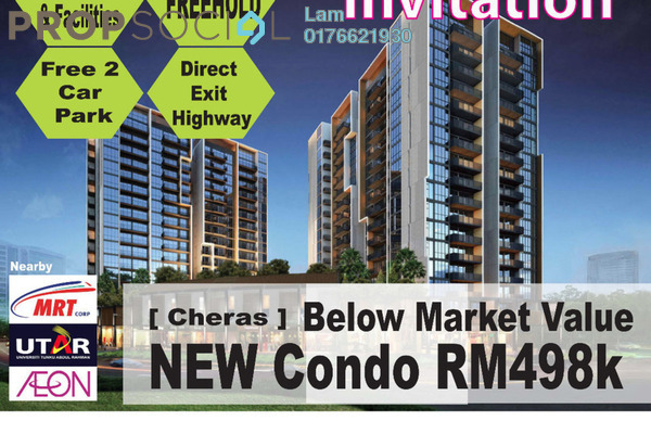 For Sale Condominium at Iris Residence, Bandar Sungai Long Freehold Unfurnished 3R/2B 440k
