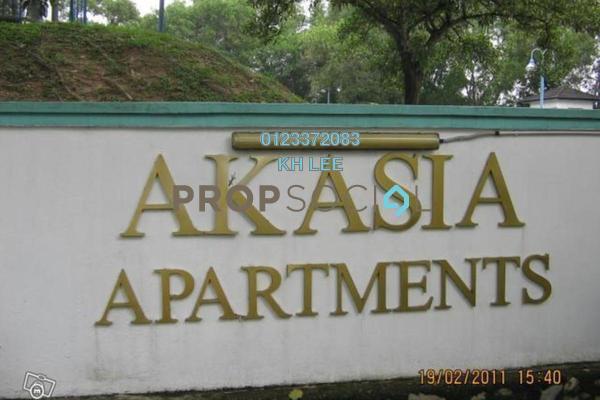 For Rent Apartment at Akasia Apartment, Pusat Bandar Puchong Freehold Semi Furnished 3R/2B 1k
