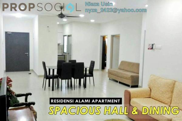 For Rent Apartment at Residensi Alami, Shah Alam Freehold Fully Furnished 3R/2B 1.8k