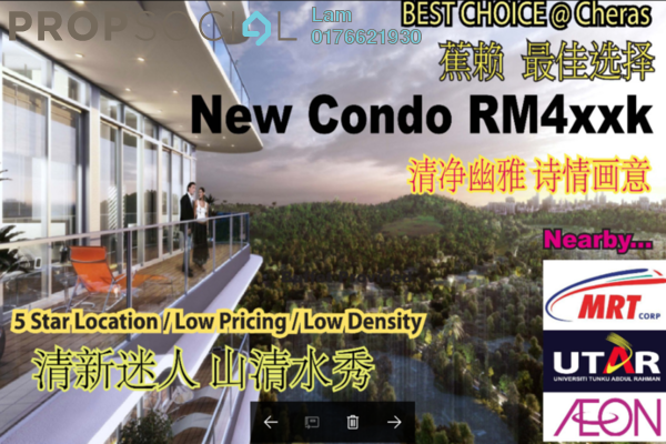 For Sale Condominium at Iris Residence, Bandar Sungai Long Freehold Unfurnished 3R/2B 441k