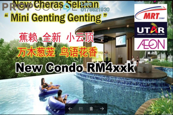 For Sale Condominium at Iris Residence, Bandar Sungai Long Freehold Unfurnished 3R/2B 443k