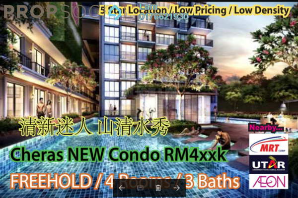For Sale Condominium at Iris Residence, Bandar Sungai Long Freehold Unfurnished 3R/2B 444k