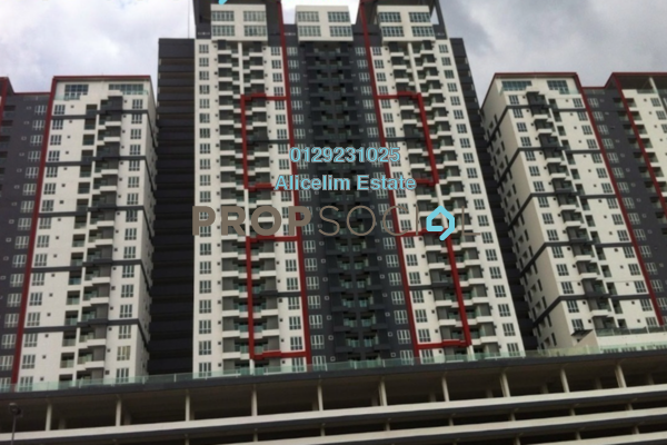 For Sale Condominium at Silk Residence, Bandar Tun Hussein Onn Freehold Semi Furnished 3R/2B 380k