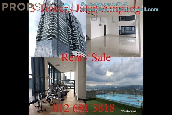 For Rent Duplex at 3 Towers, Ampang Hilir Freehold Semi Furnished 2R/2B 2.7k