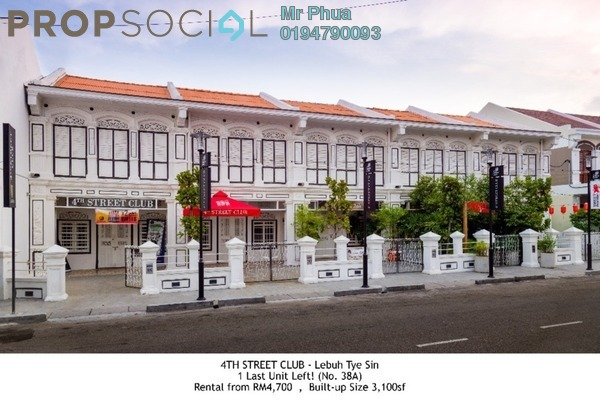 For Rent Shop at Lebuh Tye Sin, Georgetown Freehold Unfurnished 0R/0B 4.7k