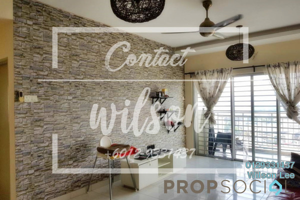 For Rent Condominium at Symphony Heights, Selayang Freehold Semi Furnished 3R/2B 1.45k