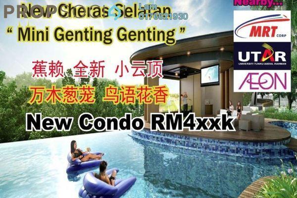 For Sale Condominium at Iris Residence, Bandar Sungai Long Freehold Unfurnished 3R/2B 444k