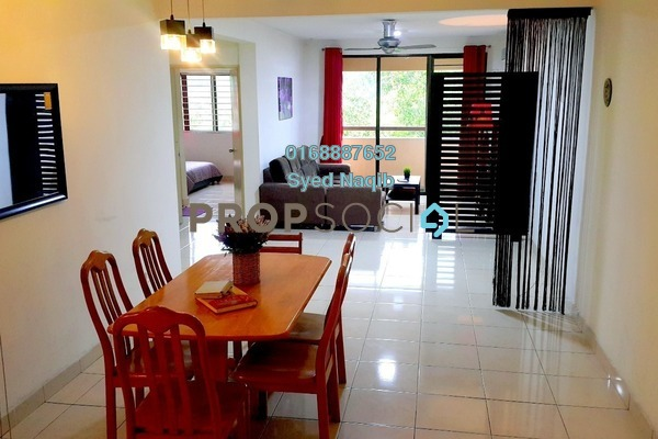 For Sale Condominium at Putra Villa, Gombak Freehold Fully Furnished 3R/2B 485k