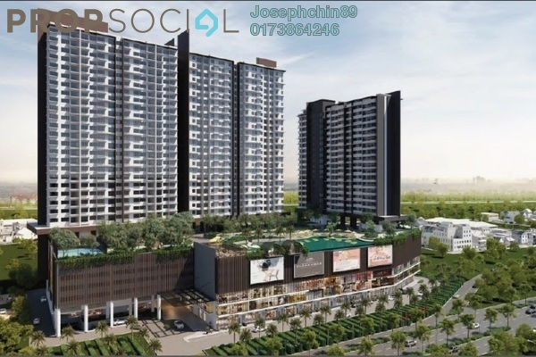 For Rent Serviced Residence at Kiara Plaza, Semenyih Freehold Semi Furnished 3R/2B 1.4k