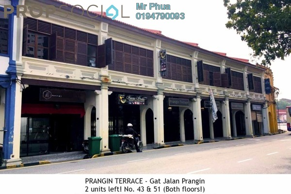 For Rent Shop at Gat Jalan Prangin, Georgetown Freehold Unfurnished 0R/0B 2.2k