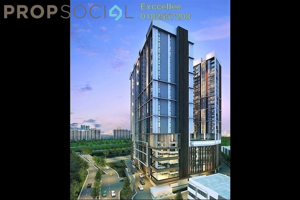 For Sale Condominium at AraTre' Residences, Ara Damansara Freehold Semi Furnished 2R/2B 520k