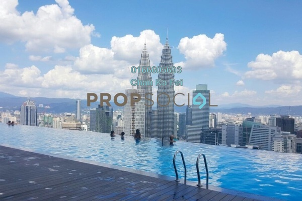 For Sale Condominium at Platinum Suites, KLCC Freehold Fully Furnished 1R/1B 1.42m
