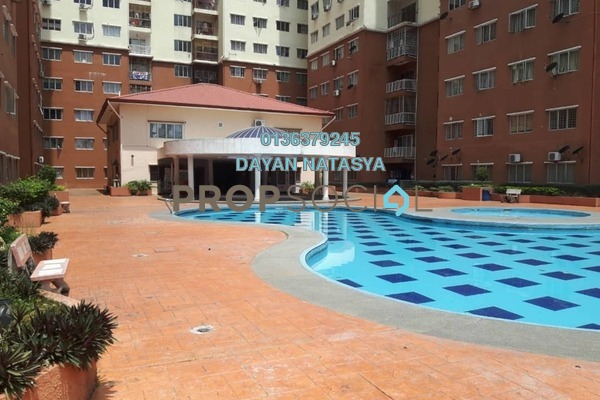 For Sale Apartment at Taman Damai Mewah, Kajang Freehold Semi Furnished 3R/2B 265k