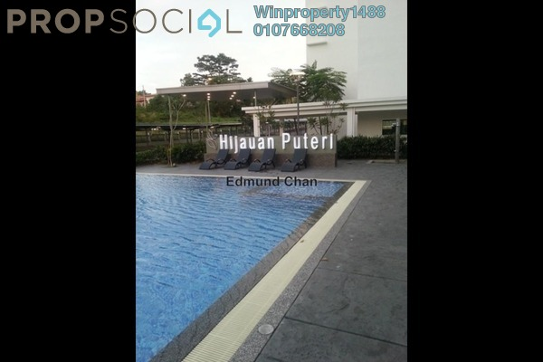 For Rent Condominium at Hijauan Puteri, Bandar Puteri Puchong Freehold Semi Furnished 3R/2B 1.3k