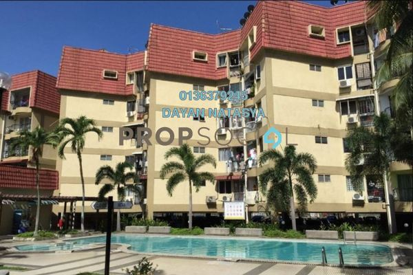For Sale Condominium at Puteri Court, Ampang Freehold Semi Furnished 3R/2B 410k