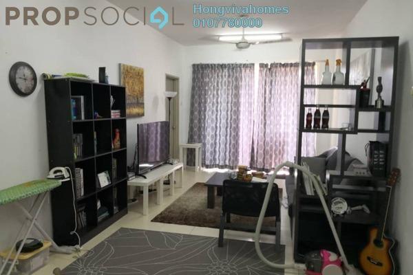 For Sale Condominium at Platinum Lake PV13, Setapak Freehold Semi Furnished 4R/2B 480k