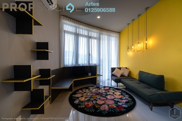 For Rent Serviced Residence at Arte S, Bukit Gambier Freehold Fully Furnished 2R/2B 3k
