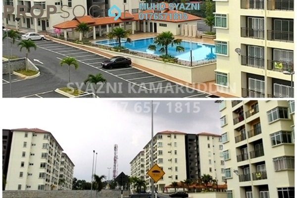 For Sale Apartment at Residensi Warnasari, Puncak Alam Freehold Semi Furnished 3R/2B 240k