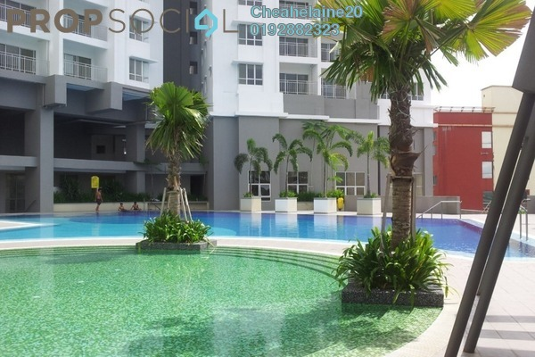 For Sale Condominium at Symphony Heights, Selayang Freehold Semi Furnished 3R/2B 380k