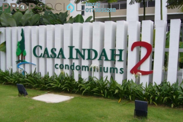 For Sale Condominium at Casa Indah 2, Tropicana Leasehold Fully Furnished 3R/3B 630k