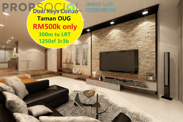 For Sale Condominium at Bukit OUG Condominium, Bukit Jalil Leasehold Unfurnished 3R/3B 503k