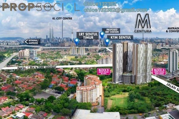 For Sale Condominium at M Centura, Sentul Freehold Unfurnished 4R/2B 530k