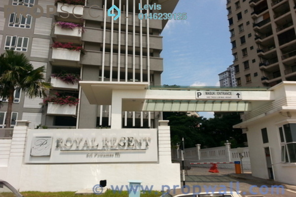 For Sale Condominium at Royal Regent, Dutamas Freehold Semi Furnished 4R/2B 560k