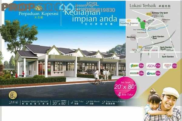 For Sale Terrace at Taman Perpaduan Koperasi, Tambun Freehold Unfurnished 4R/2B 339k