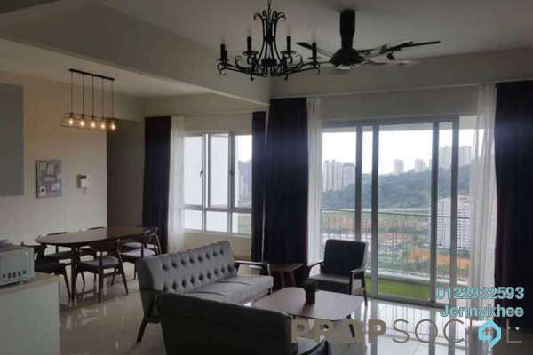 For Rent Condominium at Villa Crystal, Segambut Freehold Fully Furnished 4R/3B 2.5k