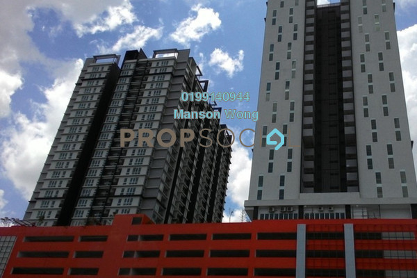For Rent Condominium at De Centrum Residences, Kajang Freehold Semi Furnished 3R/2B 1.7k