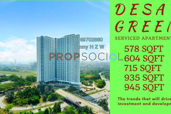 For Sale Serviced Residence at Desa Green Serviced Apartment, Taman Desa Freehold Unfurnished 2R/1B 464k