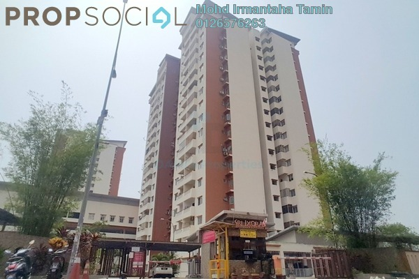 For Rent Apartment at Sri Ixora Apartment, Kajang Freehold Semi Furnished 3R/2B 1.2k