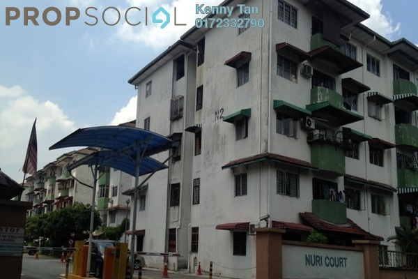 For Sale Apartment at Nuri Court, Pandan Indah Leasehold Semi Furnished 3R/2B 290k