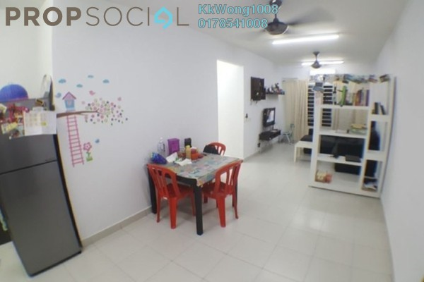 For Rent Condominium at Seri Jati Apartment, Setia Alam Freehold Semi Furnished 3R/2B 1.2k