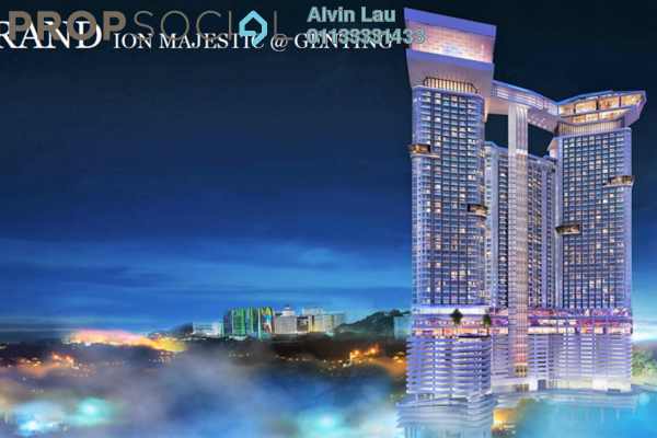 For Sale Condominium at Grand Ion Majestic, Genting Highlands Freehold Fully Furnished 1R/1B 480k