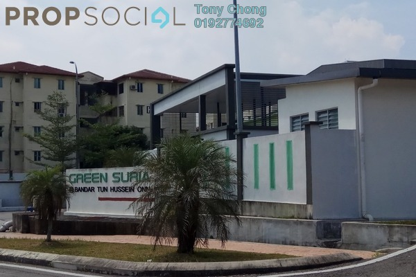 For Sale Condominium at Green Suria Apartment, Bandar Tun Hussein Onn Freehold Unfurnished 3R/2B 350k