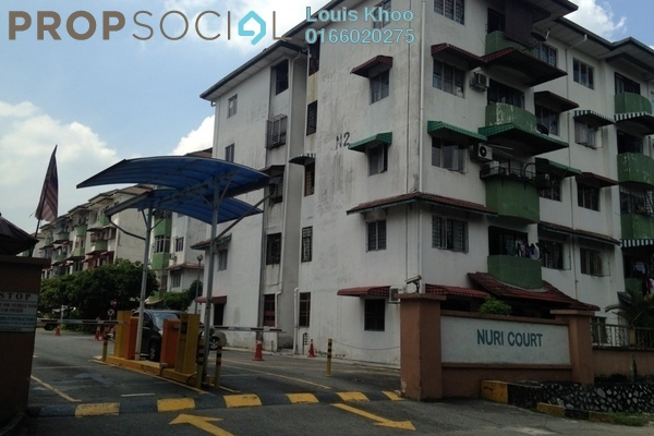 For Sale Condominium at Nuri Court, Pandan Indah Freehold Unfurnished 3R/2B 308k