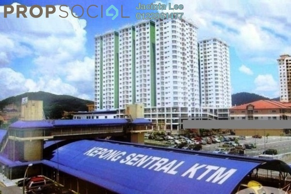 For Sale Condominium at Kepong Central Condominium, Kepong Freehold Semi Furnished 3R/2B 211k