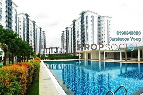 For Sale Apartment at Seri Intan Apartment, Setia Alam Freehold Unfurnished 3R/2B 289k
