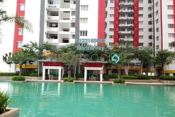 For Rent Serviced Residence at Main Place Residence, UEP Subang Jaya Freehold Semi Furnished 2R/1B 1.3k